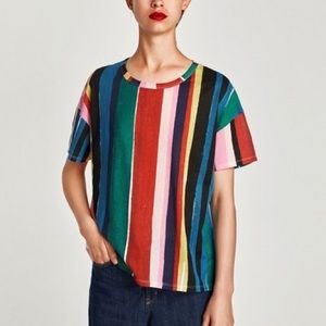 Zara Colorful Striped T-Shirt
